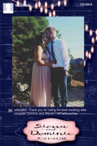 oregon wedding dj, hashtag photo booth rental