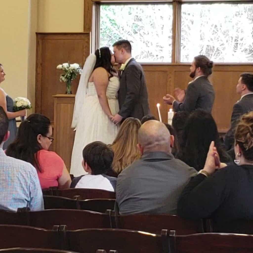 Seamons Wedding Kiss